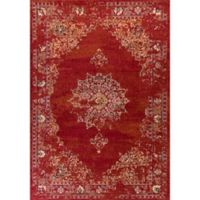 KAS Bob Mackie 7-Foot 10-Inch x 11-Foot 2-Inch Vintage Medallion Area Rug in Burnt Red