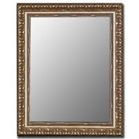 Hitchcock-Butterfield 26-Inch x 36-Inch Antique Beaded Floral Mirror in Silver