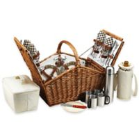 Picnic at Ascot Huntsman Picnic Basket for 4 with Coffee Service in London Plaid