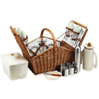 Picnic at Ascot Huntsman Picnic Basket for 4 with Coffee Service in Gazebo