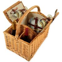 Picnic at Ascot Vineyard Willow Picnic Basket for 2 in Santa Cruz