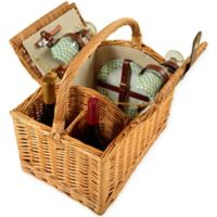 Picnic at Ascot Vineyard Willow Picnic Basket for 2 in Gazebo