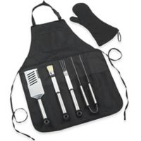 Picnic at Ascot 6-Piece B.B.Q. Chef's Tool and Apron Set