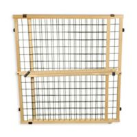 Extra Wide Pressure-Mount Wire Mesh Pet Gate in Brown