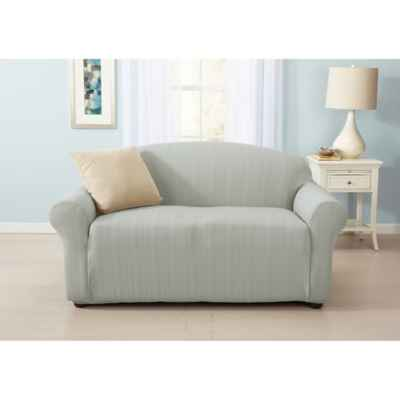 Great Bay Home Darla Strapless Cable Knit Loveseat Slipcover