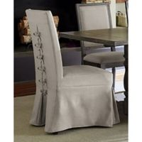 Progressive Furniture Muses Upholstered Parsons Chairs in Pepper (Set of 2)