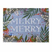 "DENY Designs ""Merry Merry"" Placemats in Blue (Set of 4)"