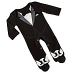 Baby Aspen My First Tuxedo Size 0-6M Long Sleeve Bodysuit in Black/White