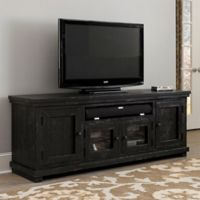 Willow 74-Inch Console in Distressed Black