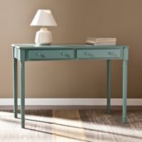 Southern Enterprises Janice 2-Drawer Writing Desk in Green