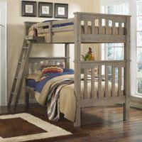 Hillsdale Highlands Harper Twin Bunk Bed in Driftwood