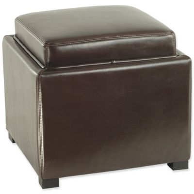 Safavieh Bobbi Tray Storage Ottoman in Brown - Buy Storage Ottoman Tray From Bed Bath & Beyond