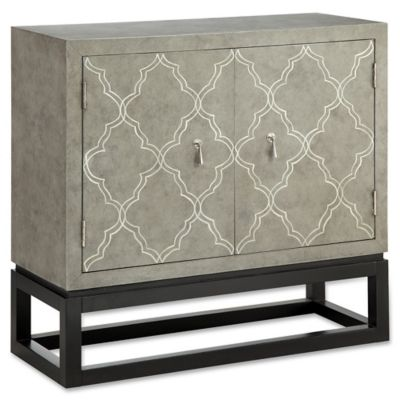 Madison Park Keyser 2 Door Cabinet In Black/Grey