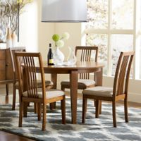 Mid-Mod Round Dining Table in Cinnamon