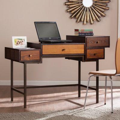 Southern Enterprises Multilevel Desk In Espresso