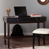 Southern Enterprises Rinaldi Faux Leather Writing Desk in Espresso