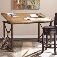 Southern Enterprises Knightley Tilt-Top Drafting Table in Oak