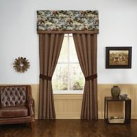 Croscill® Kodiak Window Curtain Panel Pair in Brown