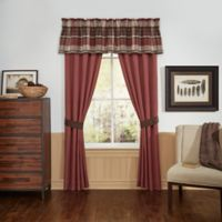 Croscill® Kent 84-Inch Window Curtain Panel Pair in Red/Brown