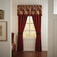 Croscill® Glendale Pole Top 84-Inch Window Curtain Panel Pair in Red
