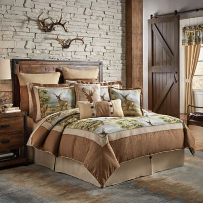 croscill cold springs king comforter set in brown