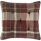 Croscill® Kent 18-Inch Square Throw Pillow in Red/Brown