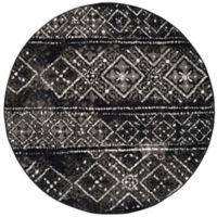 Safavieh Adirondack 4-Foot Round Accent Rug in Black