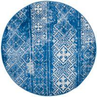 Safavieh Adirondack 4-Foot Round Accent Rug in Blue