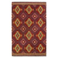 Kaleen Global Inspirations Diamond 9-Foot x 12-Foot Area Rug in Red