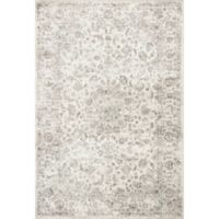 KAS Provence Medallia Viscose 3-Foot 3-Inch x 4-Foot 7-Inch Accent Rug in Silver