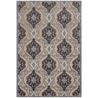 KAS Anna Medallia 5-Foot 3-Inch x 7-Foot 7-Inch Area Rug in Sand/Grey
