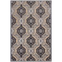KAS Anna Medallia 7-Foot 10-Inch x 11-Foot 2-Inch Area Rug in Sand/Grey