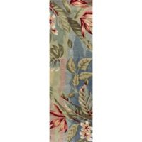 KAS Coral Breeze 2-Foot 3-Inch x 7-Foot 6-Inch Runner in Blue/Sage