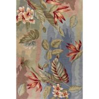 KAS Coral Breeze 5-Foot x 7-Foot 6-Inch Area Rug in Blue/Sage