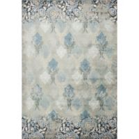 KAS Provence Brighton Viscose 3-Foot 3-Inch x 4-Foot 7-Inch Area Rug in Slate Blue