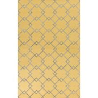 KAS Impressions Courtyard 2-Foot 3-Inch x 3-Foot 9-Inch Accent Rug in Gold/Grey