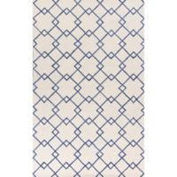 KAS Impressions Courtyard 3-Foot 3-Inch x 5-Foot 3-Inch Area Rug in Ivory/Blue