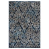 KAS Provence 5-Foot 3-Inch x 7-Foot 7-Inch Damask Rug in Slate Blue