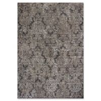 KAS Provence 5-Foot 3-Inch x 7-Foot 7-Inch Damask Rug in Taupe/Sand