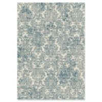 KAS Provence 5-Foot 3-Inch x 7-Foot 7-Inch Damask Rug in Ivory/Blue