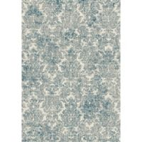 KAS Provence 7-Foot 10-Inch x 11-Foot 2-Inch Damask Rug in Ivory Blue