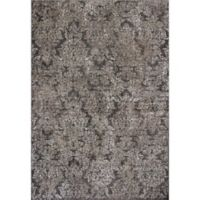 KAS Provence 7-Foot 10-Inch x 11-Foot 2-Inch Damask Rug in Taupe/Sand