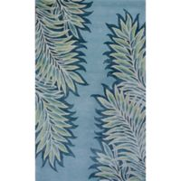 KAS Bob Mackie Home Folia 3-Foot 3-Inch x 5-Foot 3-Inch Accent Rug in Ice Blue