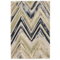 Abstract 3-Foot 11-Inch x 5-Foot 7-Inch Area Rug in Grey/Green