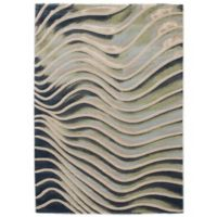 Abstract 5 Foot 3 Inch X 7 Area Rug