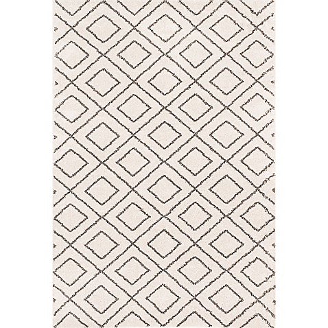 Frieze Shag Area Rug In Ivory Bed Bath Amp Beyond