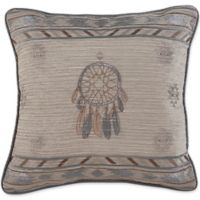 Croscill® Ansonia Embroidered Square Throw Pillow in Grey
