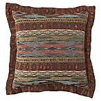 Croscill® El Capitan Flanged 18-Inch Square Throw Pillow in Blue/Brown