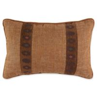 Croscill® El Capitan Banded Oblong Throw Pillow in Blue/Brown