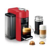 Nespresso® by DeLonghi Vertuo Coffee Maker with Aeroccino in Red